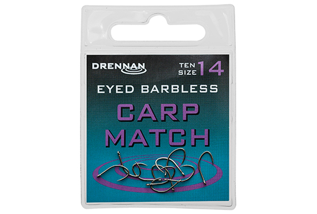 DRENNAN Háčky Eyed Carp Match barbless vel. 18